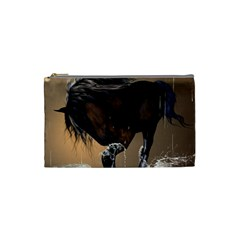 Beautiful Horse With Water Splash Cosmetic Bag (Small)