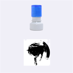 Beautiful Horse With Water Splash Rubber Round Stamps (small)