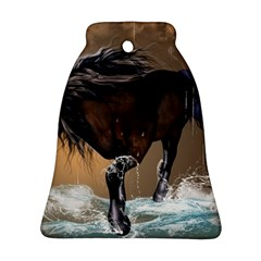 Beautiful Horse With Water Splash Ornament (bell)