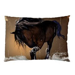 Beautiful Horse With Water Splash Pillow Cases (two Sides)