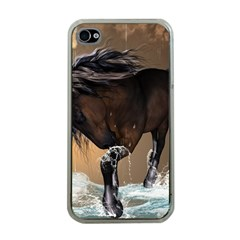 Beautiful Horse With Water Splash Apple iPhone 4 Case (Clear)