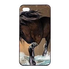 Beautiful Horse With Water Splash Apple iPhone 4/4s Seamless Case (Black)