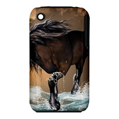 Beautiful Horse With Water Splash Apple iPhone 3G/3GS Hardshell Case (PC+Silicone)