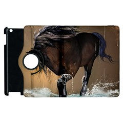Beautiful Horse With Water Splash Apple iPad 2 Flip 360 Case