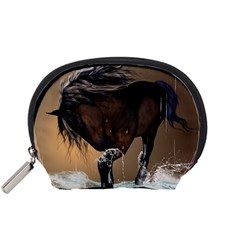 Beautiful Horse With Water Splash Accessory Pouches (Small)