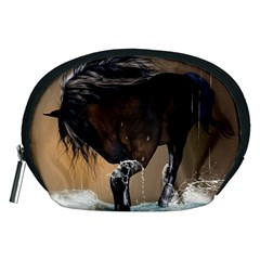 Beautiful Horse With Water Splash Accessory Pouches (Medium)
