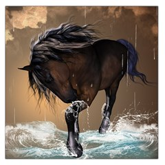 Beautiful Horse With Water Splash Large Satin Scarf (square)