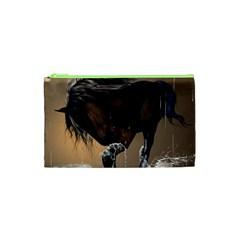Beautiful Horse With Water Splash Cosmetic Bag (XS)