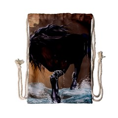 Beautiful Horse With Water Splash Drawstring Bag (small)