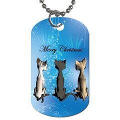 Merry Chrsitmas Dog Tag (Two Sides)
