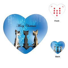 Merry Chrsitmas Playing Cards (Heart)