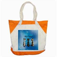 Merry Chrsitmas Accent Tote Bag