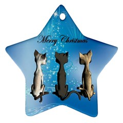 Merry Chrsitmas Star Ornament (Two Sides)