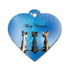 Merry Chrsitmas Dog Tag Heart (One Side)