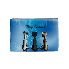 Merry Chrsitmas Cosmetic Bag (Medium)
