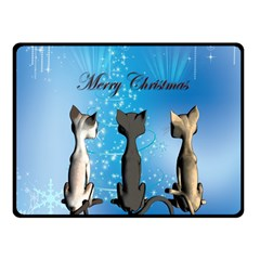 Merry Chrsitmas Fleece Blanket (Small)