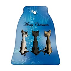 Merry Chrsitmas Bell Ornament (2 Sides)