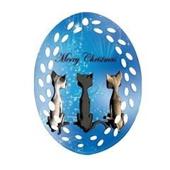 Merry Chrsitmas Ornament (Oval Filigree)