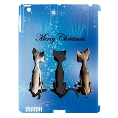 Merry Chrsitmas Apple iPad 3/4 Hardshell Case (Compatible with Smart Cover)