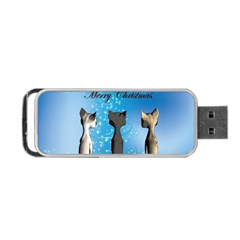Merry Chrsitmas Portable Usb Flash (one Side)
