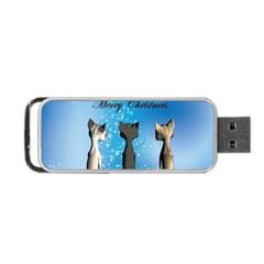 Merry Chrsitmas Portable USB Flash (One Side)