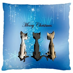 Merry Chrsitmas Standard Flano Cushion Cases (one Side)