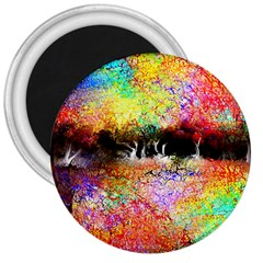 Colorful Tree Landscape 3  Magnets