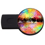 Colorful Tree Landscape USB Flash Drive Round (2 GB)  Front