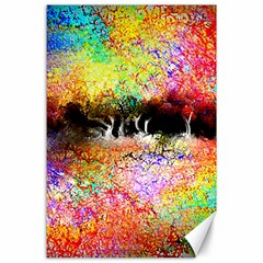 Colorful Tree Landscape Canvas 24  x 36