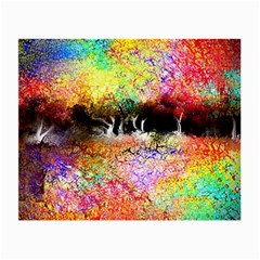 Colorful Tree Landscape Small Glasses Cloth (2 Side)