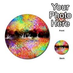 Colorful Tree Landscape Multi-purpose Cards (Round)