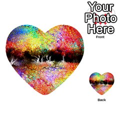 Colorful Tree Landscape Multi-purpose Cards (Heart)