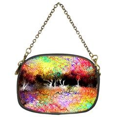 Colorful Tree Landscape Chain Purses (one Side)