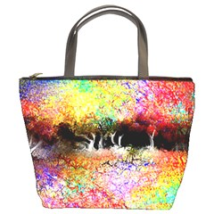 Colorful Tree Landscape Bucket Bags