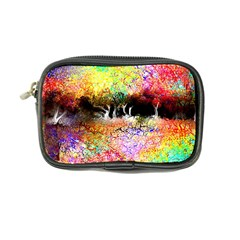 Colorful Tree Landscape Coin Purse