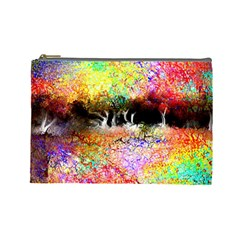 Colorful Tree Landscape Cosmetic Bag (Large)