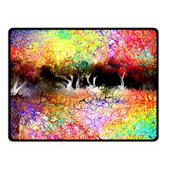 Colorful Tree Landscape Fleece Blanket (Small)