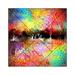 Colorful Tree Landscape Acrylic Tangram Puzzle (6  x 6 )