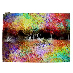 Colorful Tree Landscape Cosmetic Bag (XXL)