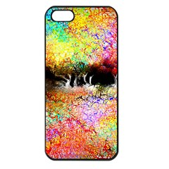 Colorful Tree Landscape Apple Iphone 5 Seamless Case (black)