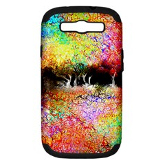Colorful Tree Landscape Samsung Galaxy S III Hardshell Case (PC+Silicone)