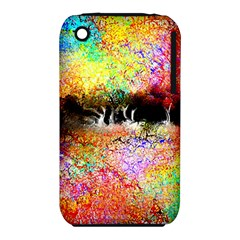 Colorful Tree Landscape Apple iPhone 3G/3GS Hardshell Case (PC+Silicone)