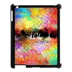 Colorful Tree Landscape Apple iPad 3/4 Case (Black)