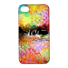 Colorful Tree Landscape Apple Iphone 4/4s Hardshell Case With Stand