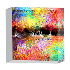 Colorful Tree Landscape 5  x 5  Acrylic Photo Blocks