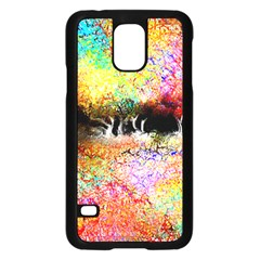 Colorful Tree Landscape Samsung Galaxy S5 Case (Black)