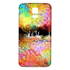 Colorful Tree Landscape Samsung Galaxy S5 Back Case (White)