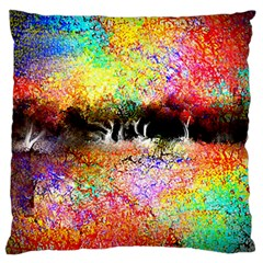 Colorful Tree Landscape Large Flano Cushion Cases (One Side)