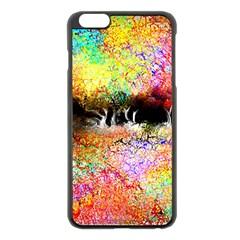 Colorful Tree Landscape Apple iPhone 6 Plus/6S Plus Black Enamel Case