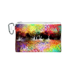 Colorful Tree Landscape Canvas Cosmetic Bag (S)